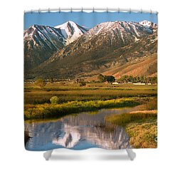 Job's Peak Reflections Shower Curtain