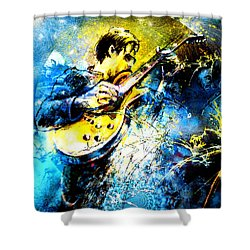 Joe Bonamassa 01 Bis Shower Curtain by Miki De Goodaboom