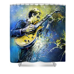 Joe Bonamassa 01 Shower Curtain by Miki De Goodaboom