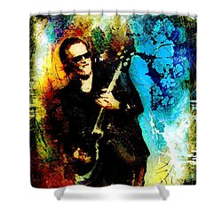 Joe Bonamassa Madness Shower Curtain by Miki De Goodaboom