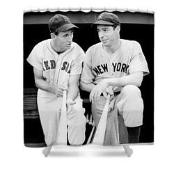 Joe Dimaggio And Ted Williams Shower Curtain by Gianfranco Weiss