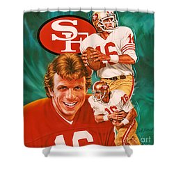 Joe Montana Shower Curtain