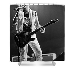 Joe Strummer At Clash Final Concert Shower Curtain