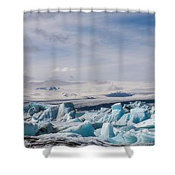 Joekulsarlon Glacial Lagoon Shower Curtain