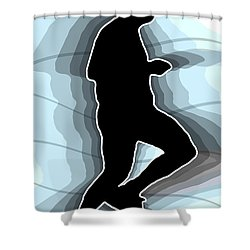 Jog Shower Curtain by Stephen Younts