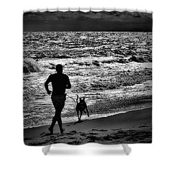 Joggin Wit Dad Shower Curtain
