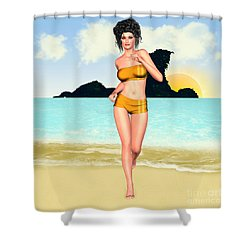 Jogging Miriam Shower Curtain