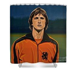 Johan Cruyff Oranje Shower Curtain by Paul Meijering