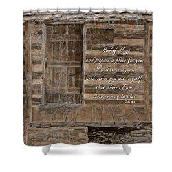 John 14 3 Shower Curtain by Michelle Greene Wheeler