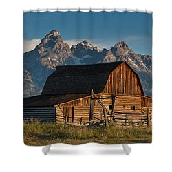 Shower Curtain featuring the photograph John And Bartha Moulton Barn by Jeff Goulden