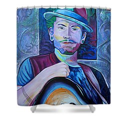 Shower Curtain featuring the painting John Butler by Joshua Morton