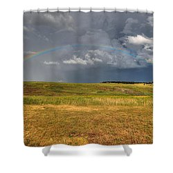 John Deer At The End Of The Rainbow Shower Curtain