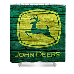 John Deere Barn Door Shower Curtain by Dan Sproul