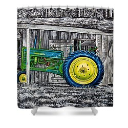 John Deere Green Shower Curtain by Craig T Burgwardt
