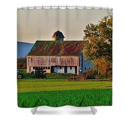 John Deere Green Shower Curtain