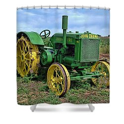 John Deere Tractor Hdr Shower Curtain