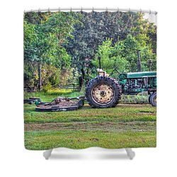 John Deere - Work Day Shower Curtain