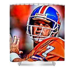 John Elway Shower Curtain