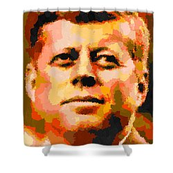 John Fitzgerald Kennedy - Abstract Shower Curtain