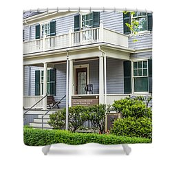 John Fitzgerald Kennedy Birthplace Shower Curtain by Susan Cole Kelly