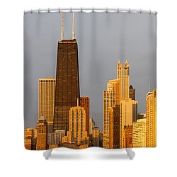 John Hancock Center Chicago Shower Curtain by Adam Romanowicz