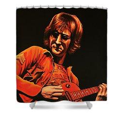 John Lennon Painting Shower Curtain