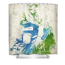 John Wayne  Shower Curtain by Aged Pixel