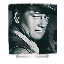 John Wayne Artwork Shower Curtain