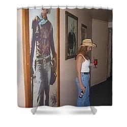 John Wayne Gallery Hondo 1953 Crystal Palace Saloon Helldorado Days Tombstone Arizona 2004 Shower Curtain by David Lee Guss