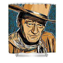 John Wayne Pop Art Shower Curtain by Jim Zahniser