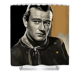 John Wayne  Publicity Photo In Costume Stagecoach 1939-2009 Shower Curtain by David Lee Guss