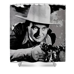John Wayne Two-fisted Law  1932 Publicity Photo Shower Curtain by David Lee Guss