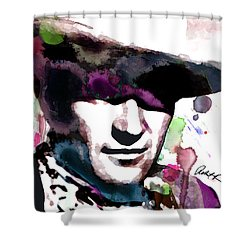 John Wayne Water Color Pop Art By Robert R Shower Curtain