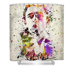 Johnny Cash  Shower Curtain by Aged Pixel