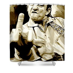 Johnny Cash Artwork 2 Shower Curtain