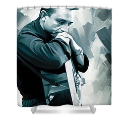 Johnny Cash Artwork 3 Shower Curtain