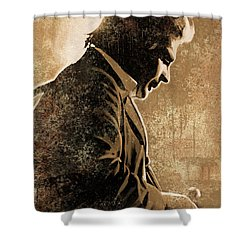 Johnny Cash Artwork Shower Curtain by Sheraz A