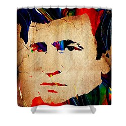 Johnny Cash Collection Shower Curtain by Marvin Blaine