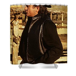 Shower Curtain featuring the photograph Johnny Cash Golden Gate Peak Old Tucson Arizona 1971 by David Lee Guss