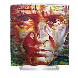 Johnny Cash Shower Curtain by Joshua Morton