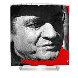 Shower Curtain featuring the photograph Johnny Cash Music Homage Ring Of Fire Old Tucson Arizona 1971 by David Lee Guss