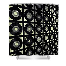 Johnny Cash Vinyl Records Shower Curtain by Dan Sproul