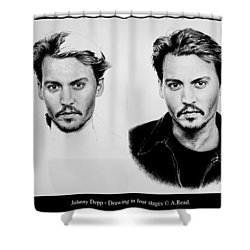 Johnny Depp 4 Shower Curtain by Andrew Read