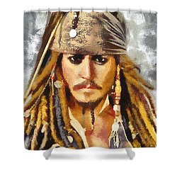 Johnny Depp Jack Sparrow Actor Shower Curtain