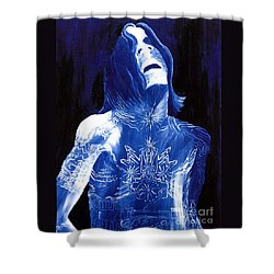 Johnny Lang - The Blues Shower Curtain by Mark Beach