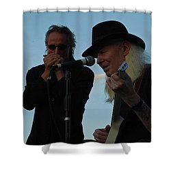 Shower Curtain featuring the photograph Johnny Winter And James Montgomery Playing The Blues by Mike Martin