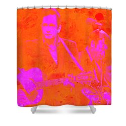 Johny Cash 3 Shower Curtain by Brian Reaves