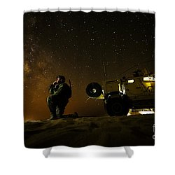 Joint Terminal Attack Controller Shower Curtain