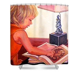 Jojo And Renoir Shower Curtain by Jeanette Jarmon