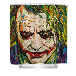 Joker Shower Curtain by Michael Wardle